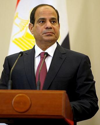 Portrait du président égyptien Abdel Fattah Al-Sissi