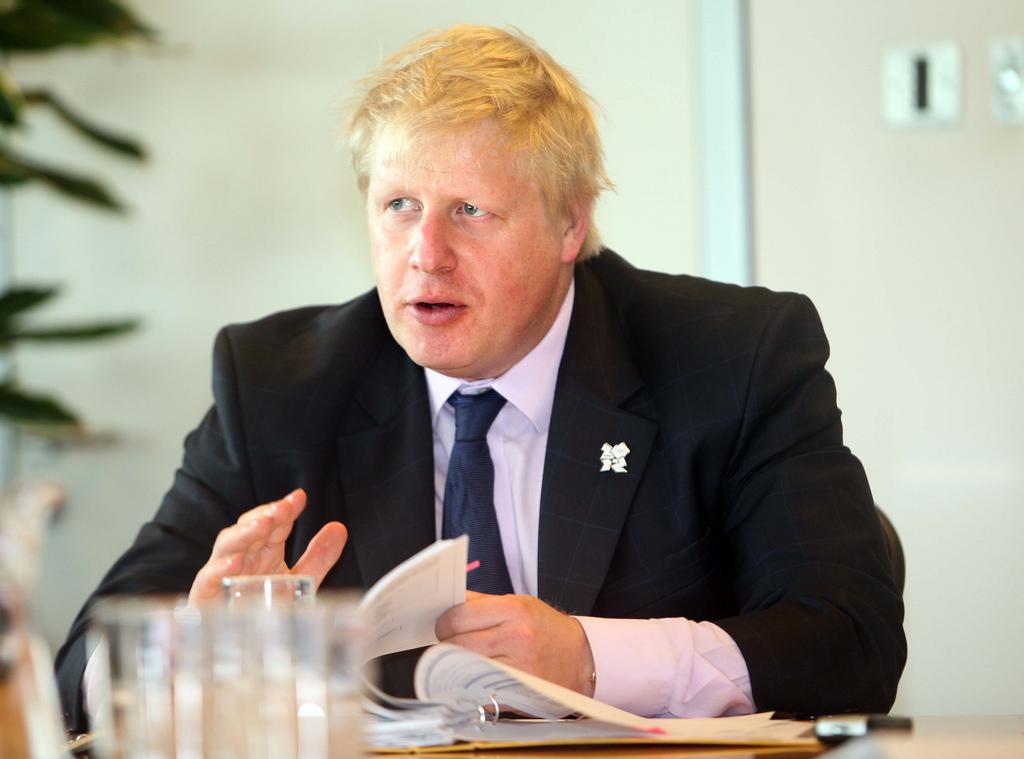 Le Ministre des Affaires étrangères britannique Boris Johnson en visite en Israël