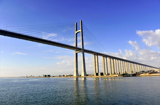 Egypt: inauguration of the world's largest suspension bridge