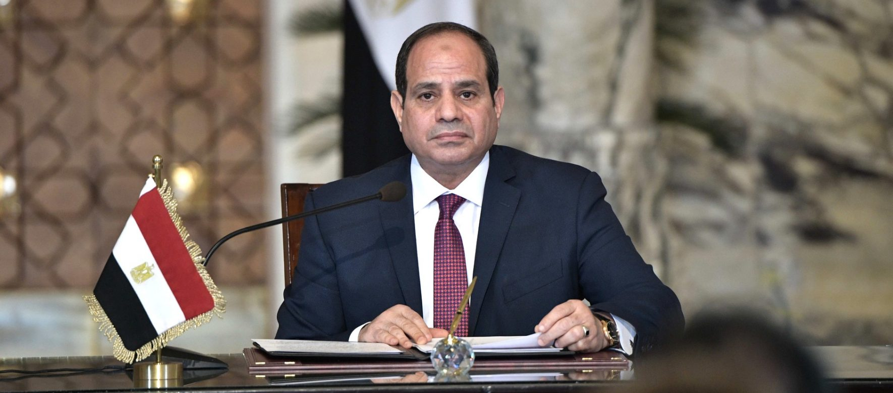 "El Sisi talking about ""collaboration with Israel"" in a CBS interview 1"