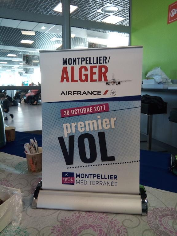 Air France a inauguré sa nouvelle ligne Montpellier - Alger!