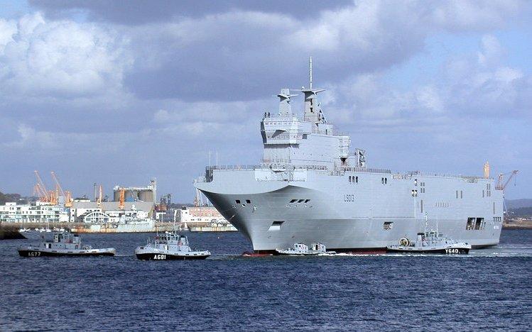 L'Egypte prend livraison de son premier navire de guerre type Mistral