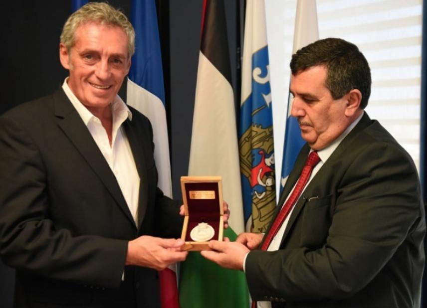 Israel : Anton Salman, le maire de Béthléem est reçu à Montpellier par Philippe Saurel