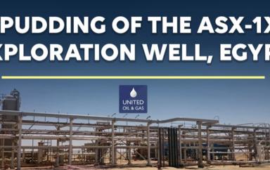 Egypte : United Oil & Gas vient d'annoncer qu'elle a commencé à forer le puits d'exploration ASX-1X de sa nouvelle campagne de forages sur la licence égyptienne Abu Sennan 1